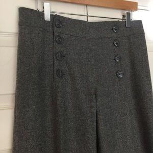 H&M NWT Gray Wool Sailor Pant