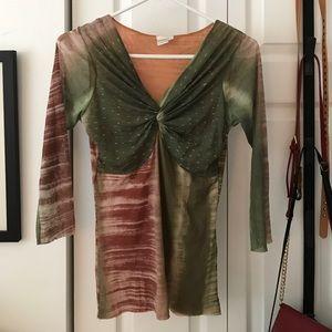 Sweet pea Anthropologie nylon net blouse unworn