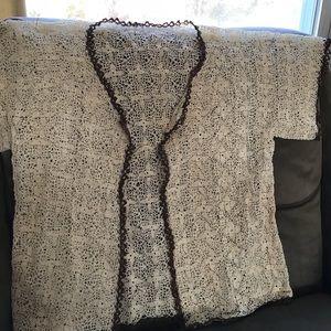 Tops - Vintage crochet sweater.  Amazing detail.