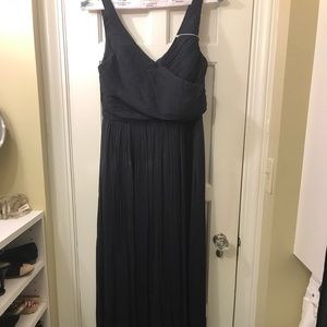 J Crew NWT Heidi Silk Gown Navy Dress