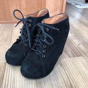 Jeffrey Campbell 99 Tie Hidden Wedge Bootie