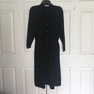 Vintage 70's St John Black Santana Knit Dress