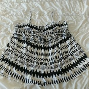 Black and White print camisole
