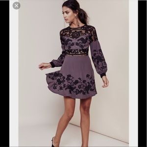 NWOT For love and lemons lace embroidered dress