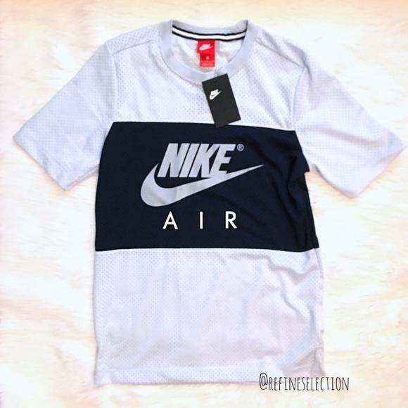 20ce06c7 Nike Air Mesh Grey and Navy Blue T-Shirt NWT