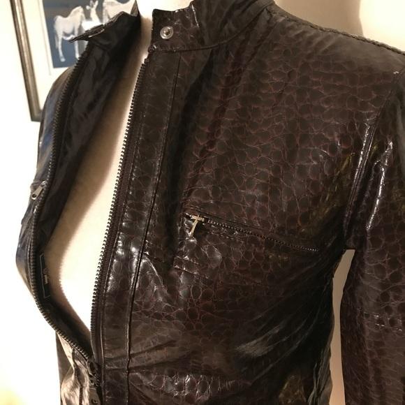 Gianfranco Ferre Jackets & Blazers - Gianfranco Ferre Light Faux Croc Zip Wind Jacket