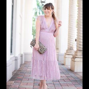 Lilac Hadley Midi Dress