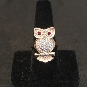 Jewelry - GOLD & CRYSTAL OWL RING