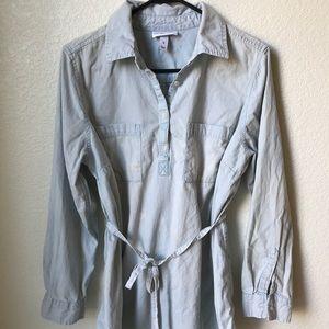 Target Liz Lange Denim maternity tunic top