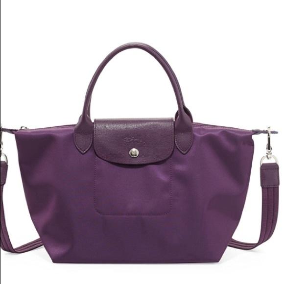 90cd57b0ce43 NEW Longchamp Neo Le Pliage Medium Purple