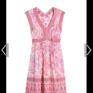 Rebecca Taylor Pink Printed silk dress