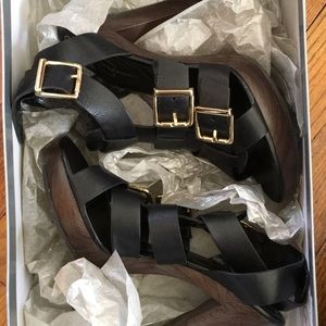 jessica simpson black buckle heels