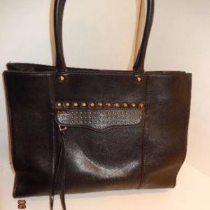Rebecca Minkoff black leather micro studded bag