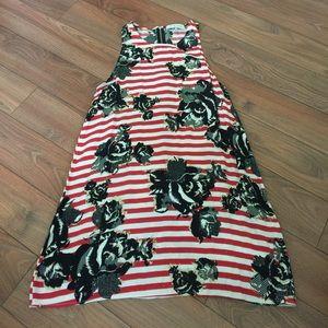 WAYF Red Striped Dress
