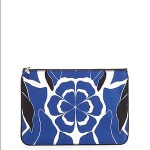 Alexander McQueen Floral-Print Skull Zip Pouch NWT