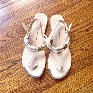 DV Dolce Vita Cream T Strap Sandals