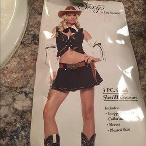 Three-piece good sheriff Costime