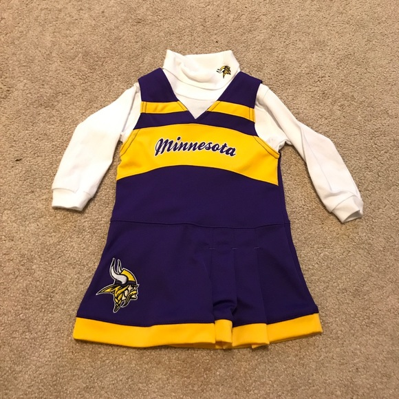 Nfl Mn Vikings Cheerleading Jumper Outfit 18 Mo