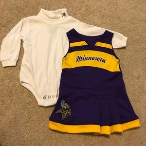 NFL Team Apparel Costumes - NFL MN Vikings cheerleading jumper outfit 18 mo 53c395ee2