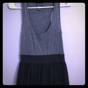 Black and Sliver Party Dress; Good Condition