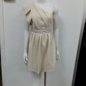 MM Miss Me Cream Off Shoulder Dress Sz. M