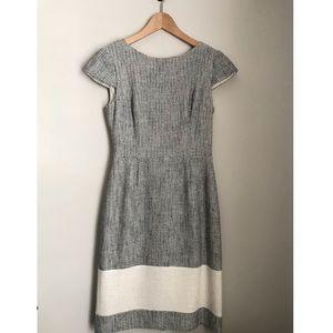 Kay Unger Cream/Black Speckled Dress