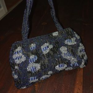 Banana Republic beaded blue purse.