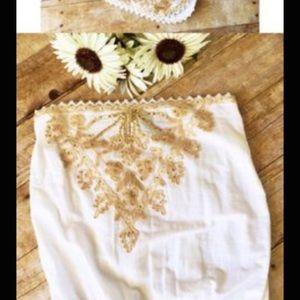 Cynthia Rowley gold sequin mini dress