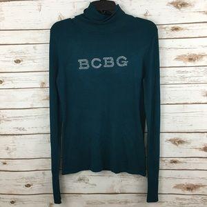 BCBG Max Azria Turtleneck Crystals S Sweater NWT