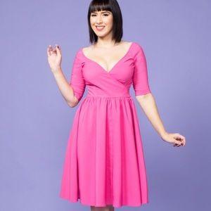 Loren Dress in Exclusive Pink