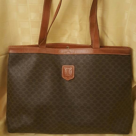 Celine Handbags - Authentic Celine Macadam shoulder Tote bag MC98 2 a8d98e4c7425a