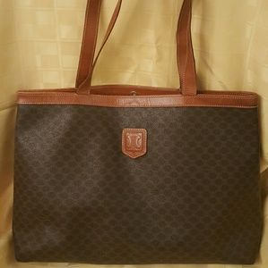 Authentic Celine Macadam shoulder Tote bag MC98/2