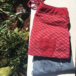 Red Fish Print Tube Top with Neck Tie Strings