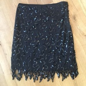 Black sequin Betsey Johnson skirt