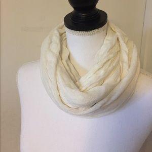 Soft white scarf