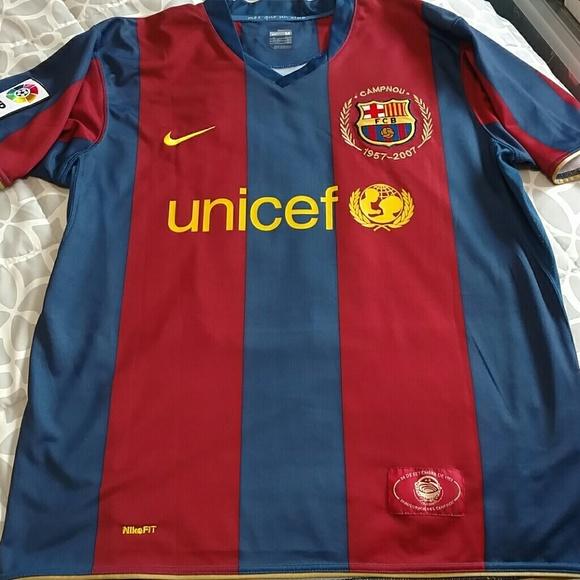 Nike Shirts Soccer Fc Ronaldinho 10 Jersey Barcelona Unicef Poshmark