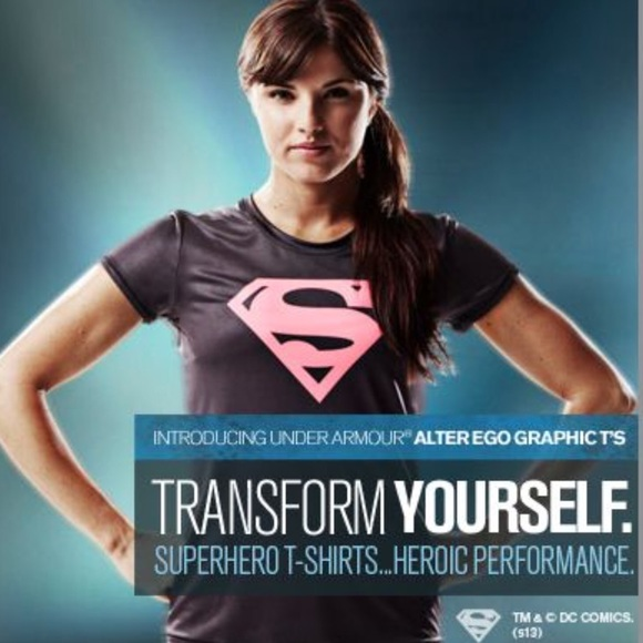 b40ddf4ac Under Armour Tops | Alter Ego Supergirl Fitted Tshirt | Poshmark