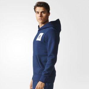 Adidas Originals Essentials Logo Navy Blue Hoodie NWT