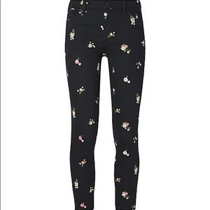 Tory Burch Floral Embroidered Pants