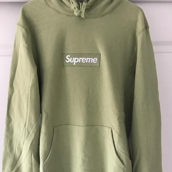 22e94e81548 Supreme Sweaters | Box Logo Hoodie Sage Medium Large | Poshmark