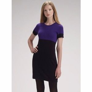 Theory Vanella 100%Cashmere Colorblock Dress