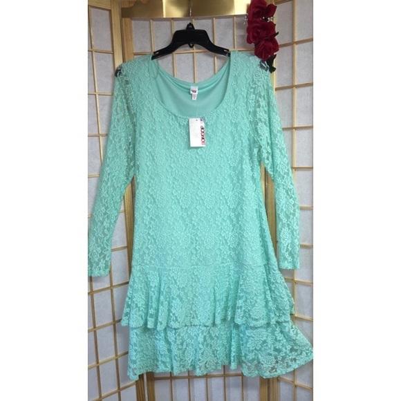 BONGO Dresses | Mint Green Plus Size Dress | Poshmark