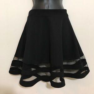 NWT Monteau black flare black skirt medium