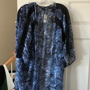 NWT Express Kimono, Palm Tree Print, Sz Lrg