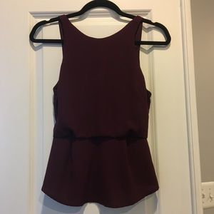 Astr wine peplum top