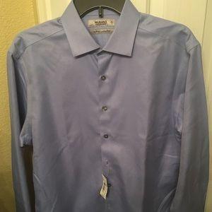 NEW Men's MURANO Blue Dress Shirt 16/34