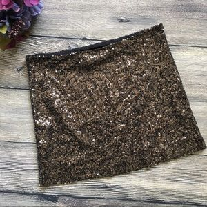 Guess Sequin Mini Skirt size small Holiday Club