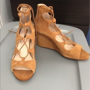 Pre-loved Zara lace up wedge sandals