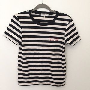 Urban Outfitters Embroidered Tee - Small