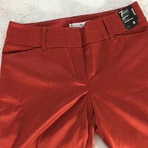 Red Pants sz 8 strait leg 7th Avenue Design Studio